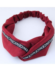 Fashion Red Letter Pattern Decorated Headband