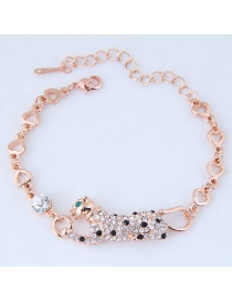 Fashion Gold Color Leopard Shape Decorated Bracelets