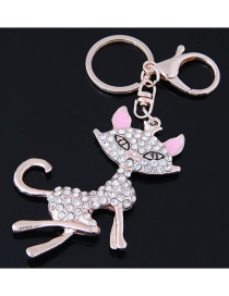 Fashion Gold Color Fox Shape Decorated Keychain