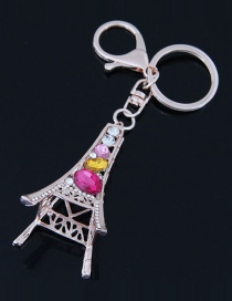 Fashion Multi-color Tower Shape Decorated Keychain