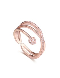 Fashion Gold Color Multi-layer Shape Decorated Rings