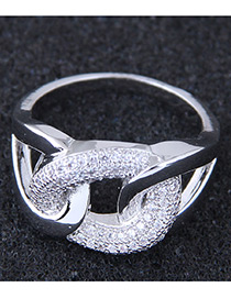 Fashion Silver Color Knot Shape Decorated Ring