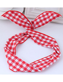 Fashion Red Square Shape Pattern Decorated Hair Band
