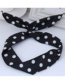 Lovely Black Dot Shape Decorated Hair Band