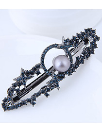 Fashion Navy Hollow Out Decorated Hair Pin