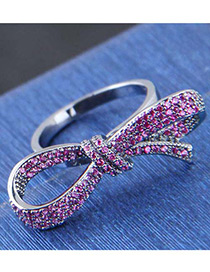 Fashion Pink Bowknot Shape Decorated Ring