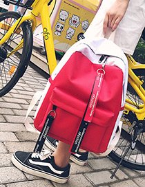 Fashion Red Ribbon Decorated Backpack