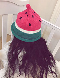 Fashion Red Watermelon Pattern Decorated Children's Cap