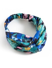 Trendy Multi-color Flower Pattern Decorated Hair Band