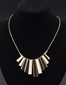 Fashion Gold Color Vertical Shape Decorated Pure Color Necklace