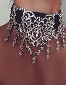Vintage Silver Color Hollow Out Decorated Choker