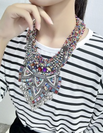 Exaggerated Multi-color Geometric Shape Decorated Jewelry Sets