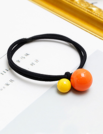 Lovely Black Round Shape Decorated Hair Band