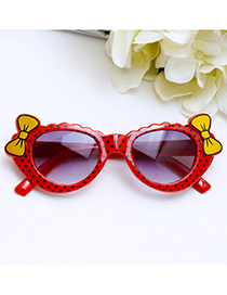 Lovely Red Bowknot Shape Decorated Children Sunglasses