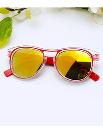 Fashion Red Color-matching Decorated Children Sunglasses