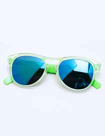Fashion Green Color-matching Decorated Children Sunglasses