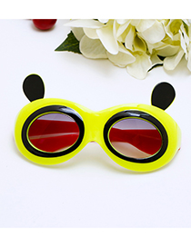 Lovely Yellow Panda Shape Decorated Children Sunglasses