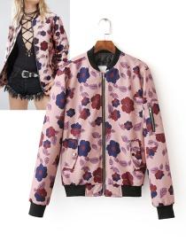 Fashion Multi-color Flower Shape Decorated Jecket