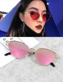Vintage Pink Cat Eye Shape Decorated Sunglasses