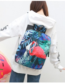 Fashion Multi-color Flamingo Pattern Decorated Backpack