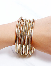Fashion Gold Color Pure Color Decorated Bracelet