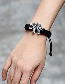 Fashion Black Elephant Shape Decorated Bracelet