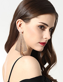 Fashion Gold Color Pure Color Decorated Earrings