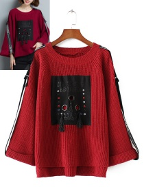 Fashion Red Tassel Decorated Sweater