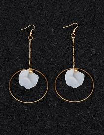 Fashion Silver Color Pearl Decorated Earrings