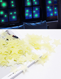 Fashion Yellow Star Shape Decorated Wall Sticker (100 Pcs)