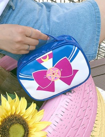 Fashion Blue Bowknot Pattern Decorated Storage Bag