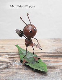 Lovely Brown Cartoon Ant Shape Decorated Handicrafts