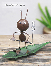 Lovely Brown Ant&fish Design Simple Handicrafts