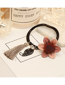 Fashion Pink Tassel&flower Decorated Hair Band