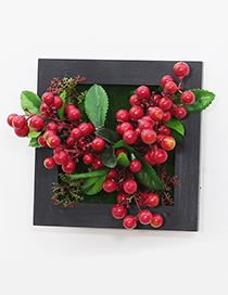 Fashion Red Cherries Decorated Wall Hanging