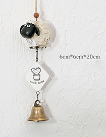 Fashion White+black Sheep Shape Decorated Wind Chimes