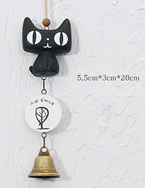 Fashion Black Cartoon Cat Decorated Wind Chimes