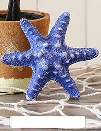 Fashion Dark Blue Starfish Shape Decorated Hook Ornaments(small)