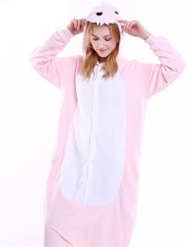 Trendy Pink Dinosaur Shape Decorated Siamese Pajamas