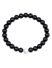 Fashion Black Beads Decorated Simple Bracelet