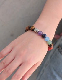 Fashion Multi-color Buddha Head&beads Decorated Bracelet