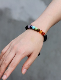 Fashion Multi-color Color Matching Decorated Beads Bracelet