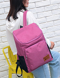 Fashion Plum Red Pure Color Decorated Traveling Backpack