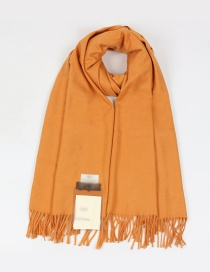 Fashion Yellow Tassel Decorated Dual-use Thicken Scarf