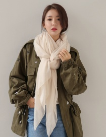 Fashion Beige Pure Color Decorated Dual-use Scarf
