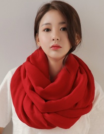 Fashion Red Pure Color Decorated Dual-use Scarf