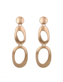Fashion Gold Color Pure Color Decorated Hollow Out Earrings