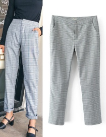 Vintage Gray Pure Decorated Pants