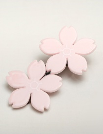Fashion Pink Flower Shape Decorated Hairpin