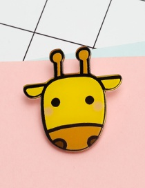 Lovely Yellow Cartoon Calf Decorated Brooch